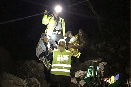 A night time rescue of refugees on the Greek island of Lesbos. Photo: United Society