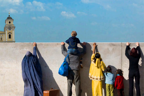An image from the cover of Mapping Migration, published by the Churches' Commission for Migrants in Europe, the Conference of European Churches and the World Council of Churches.