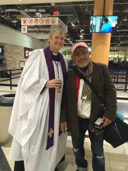 """The Rev. Donna S. Mote, Episcopal chaplain at the Atlanta Hartsfield-Jackson International Airport, will offer """"Ashes on the Fly"""" to domestic and international travelers throughout the day on Ash Wednesday. Photo: Courtesy of Donna S. Mote"""