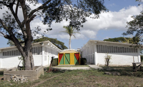 The St. Barnabas Center for Agriculture is located on a major fault line. The school has built temporary classrooms and administrative buildings since the original building is vulnerable to collapse should a seismic event occur. Photo: Lynette Wilson/Episcopal News Service