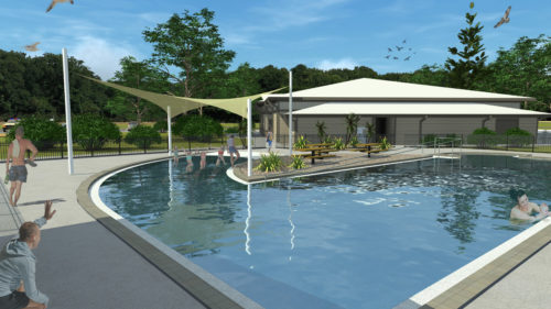 This artist rendering shows the planned pool area of the new Program Center at DaySpring, the Diocese of Southwest Florida's camp and conference center. Photo: Diocese of Southwest Florida