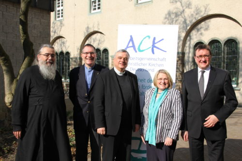 Archpriest Radu Constantin Miron (Orthodox Church) Rev. Christopher Easthill (Anglican/Episcopal) Bishop Karl-Heinz Wiesemann (Roman Catholic Church) chair Bishop Rosemarie Wenner (Methodist Church) deputy chair Bishop Martin Hein (Evangelical Church - EKD) deputy chair