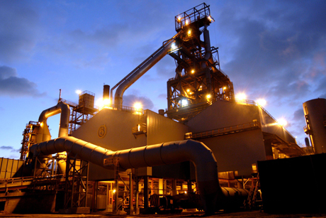 A blast furnace at the Tata Steel plant in Port Talbot. Around 4,000 jobs are at risk here, and a further 11,000 throughout the UK following Tata's decision to divest of its U.K. operations Photo: Wikimedia