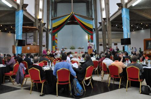 La 16ª reunión del Consejo Consultivo Anglicano comenzó el 8 de abril en la catedral de la Santa Cruz en Lusaka, Zambia. Foto de Mary Frances Schjonberg/ENS.