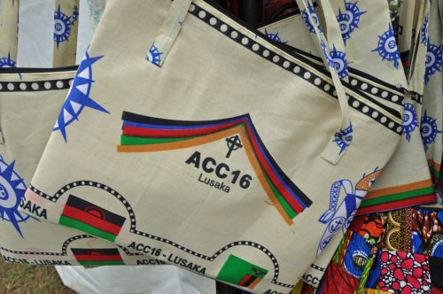 Various women's groups did a brisk business in ACC16 logo ware. Photo: Mary Frances Schjonberg/Episcopal News Service