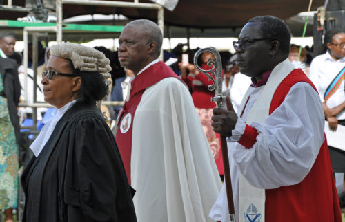 The entrance rite featured four processions filled with officials for across the Province of the Central Africa. Photo; Mary Frances Schjonberg/Episcopal News Service