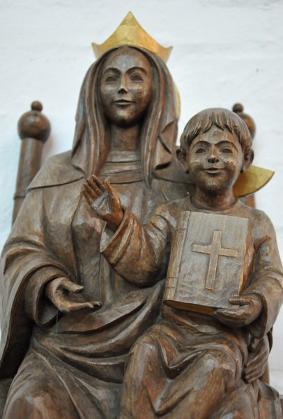 The Lady Chapel in the Cathedral of the Holy Cross has a shrine to Mary and her child. Photo: Mary Frances Schjonberg/Episcopal News Service