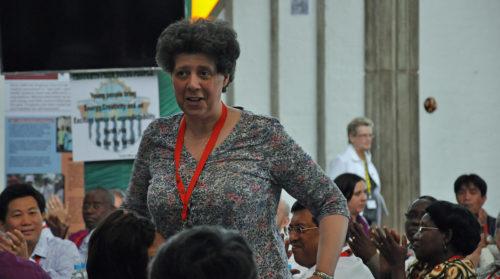 Margaret Swinson, miembro laica de la Iglesia de Inglaterra, fue electa el 18 de abril por aclamación para ser la próxima vicepresidente del Consejo Consultivo Anglicana. Foto de Mary Frances Schjonberg/ENS.