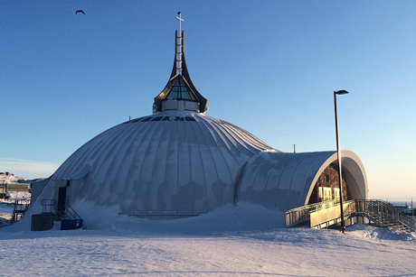 The newly rebuilt St Jude's Cathedral in Iqaluit will become home to the soon-to-be reopened Arthur Turner Training School. Photo Credit: Anglican Church of Canada