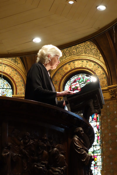 he Hon. Margaret Marshall, former Chief Justice of the Massachusetts Supreme Judicial Court, gave the homily at Trinity Church to honor the one year anniversary of the U.S. Supreme Court's decision for marriage equality.