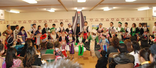 Holy Apostles holds numerous Hmong cultural celebrations during the year, including observing Hmong New Year in festive costumes. Photo: Holy Apostles
