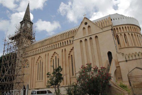 Tanto el interior como el exterior de la iglesia catedral anglicana de Cristo, en Zanzíbar están sujetos a una completa restauración. Foto de Lynette Wilson/ENS.