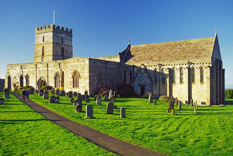 St. Aidan's Church, Bamburgh, founded by the saint whose name it bears, is the new burial site of 110 Anglo-Saxon Christian converts who may well have heard the saint preach. Photo: Christine Matthews