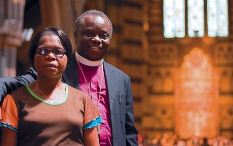 Bishop Masimando Katanda and his wife, Naomi. Photo: Bryce Amner