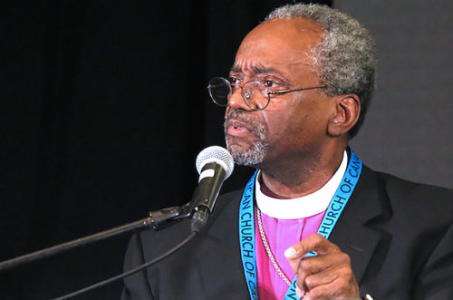"Presiding Bishop Michael Curry says the recent violence in America has left him with a ""deep sadness."" But, he adds, ""we've got work to do."" Photo: Art Babych"