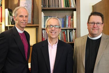 Western Massachusetts Bishop Doug Fisher, Rabbi Mark Dov Shapiro, and the Rev. Canon Tom Callard Photo: Diocese of Western Massachusetts