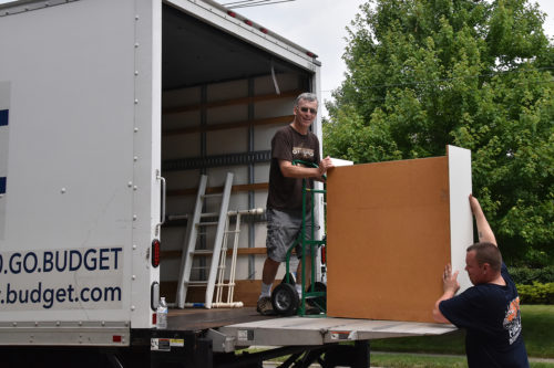 Frank Pierson not only loaded and unloaded furniture but also drove a 24-foot-rental truck to New Haven, Connecticut. Photo: Linnet Tse