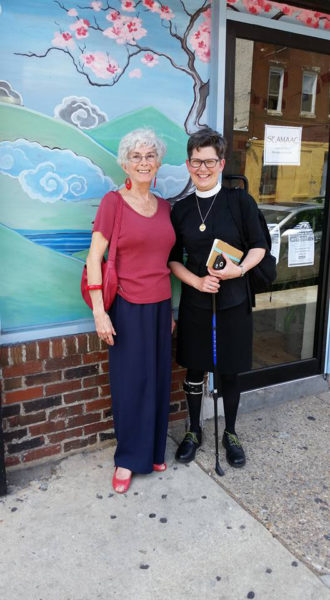 The Rev. Twila Smith withSydney Davis, a member of Episcopal Church of the Mediator. Smith and Davis visited Philadelphia last spring to learn more about refugee resettlement in advance of opening a Refugee Community Center at Church of the Mediator in Allentown, Pennsylvania. The center opensSept. 17.