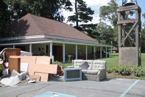 St. Francis Episcopal Church in Denham Springs, Louisiana, just east of Baton Rouge was flooded with 2- to-3 feet of water. Now gutted, church leadership is waiting on government officials to decide whether the buildings will need to be elevated before rebuilding.Photo: Karen Mackey/Diocese of Louisiana