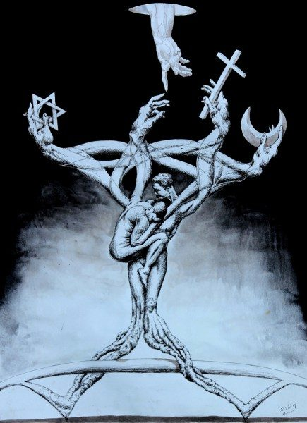 """""""El árbol"""" por el artista egipcio Yasser Rostrom"""