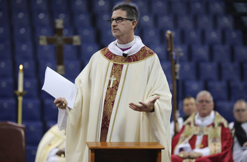 The Rt. Rev. José A. McLoughlin addresses the congregation during his ordination and consecration as bishop of the Diocese of Western North Carolina. Photo: Chris Goldman, Episcopal Diocese of Western North Carolina