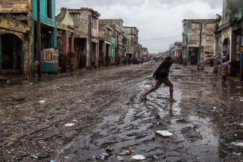 Many streets in the Haitian capital of Port-au-Prince flooded as the hurricane passed by. Photo: MUNISTAH via Facebook