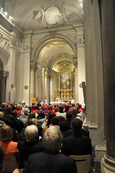 Archbishop of Canterbury Justin Welby preaches at the ecumenical vespers service at San Gregorio al Celio in Rome. Photo: Matthew Davies/Episcopal News Service