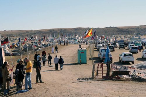 The majority of the opponents of the Dakota Access Pipeline's route live in the Oceti Sakowin Camp. The Standing Rock Sioux Nation is paying $1,500 a day for roll-off dumpsters and portable toilets. Photo: Lynette Wilson/Episcopal News Service