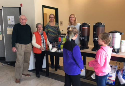 Members of St. Margaret's Episcopal Church, Annapolis, Maryland, greeted voters Nov. 8 at the local polling station in their church with coffee and other beverages. Photo: St. Margaret's Church via Twitter