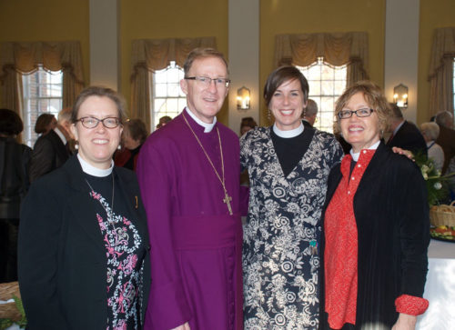 The Rev. Heather VanDeventer associate rector at Christ Church; Bishop Shannon Johnston of the Diocese of Virginia; the Rev. Noelle York-Simmons, rector of Christ Church; and the Rev. Ann Gillespie senior rector at Christ Church.