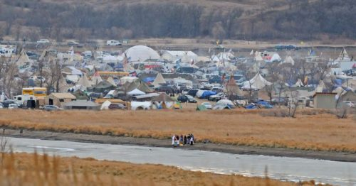 The U.S. Army Corps of Engineers has set Dec. 5 as the deadline for water protectors to leave the Oceti Sakowin camp. Photo: Bismarck Tribune via Twitter