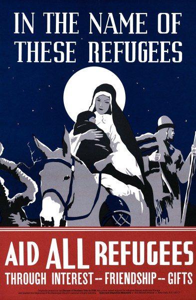 Holy family refugee poster