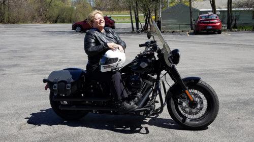DeDe Duncan-Probe on a Harley
