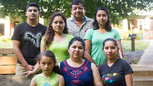 Juana Luz Tobar Ortega and family