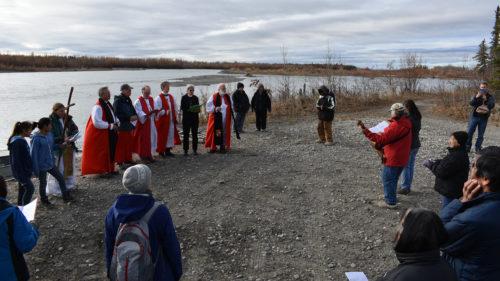 Bishops at the river