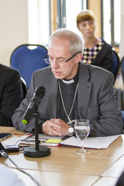 Welby at Primates Meeting