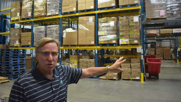 Food bank warehouse