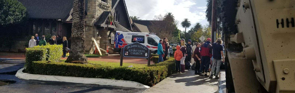 Episcopal church converted to emergency response hub after deadly California mudslides