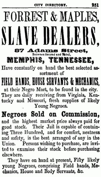 Slave mart ad