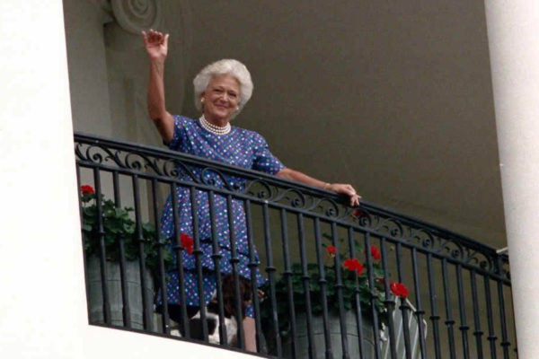 Barbara Bush at White House