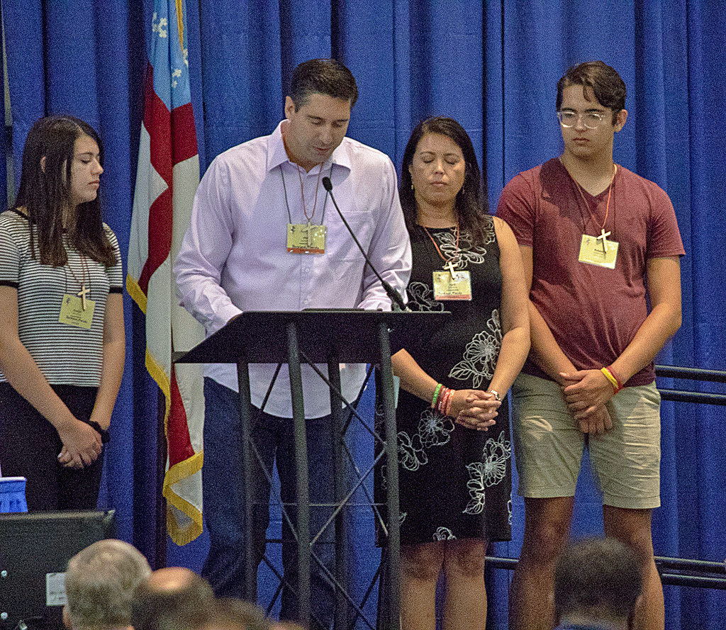 Schentrup family urges convention to continue work against