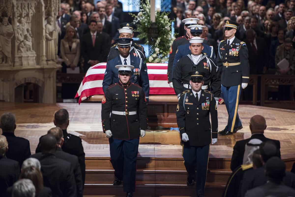 Country says farewell to George H W  Bush at Washington