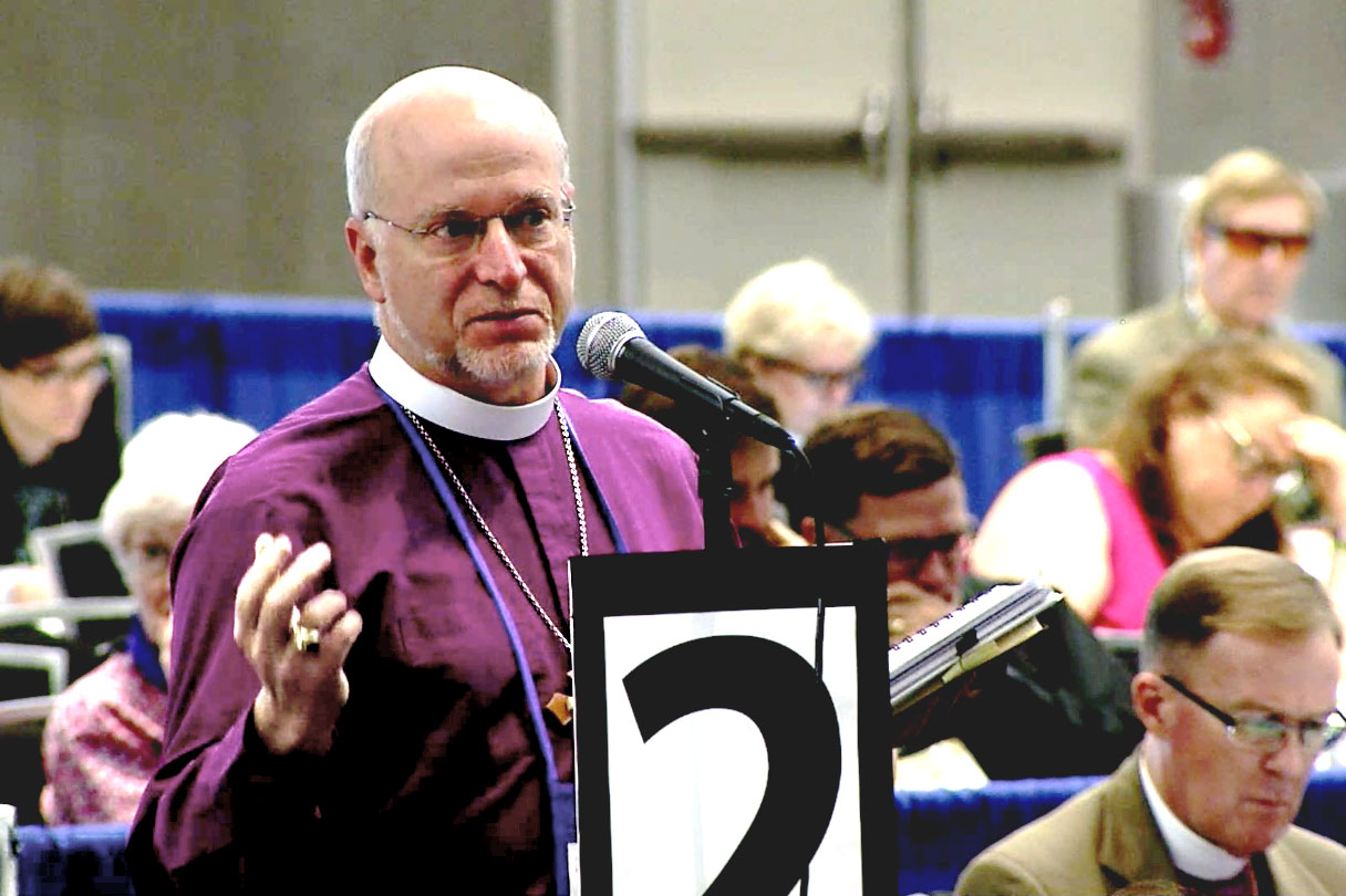 Bishop William Love of the Diocese of Albany tells General Convention on  July 11 during the House of Bishops debate on liturgical marriage-equality  ...