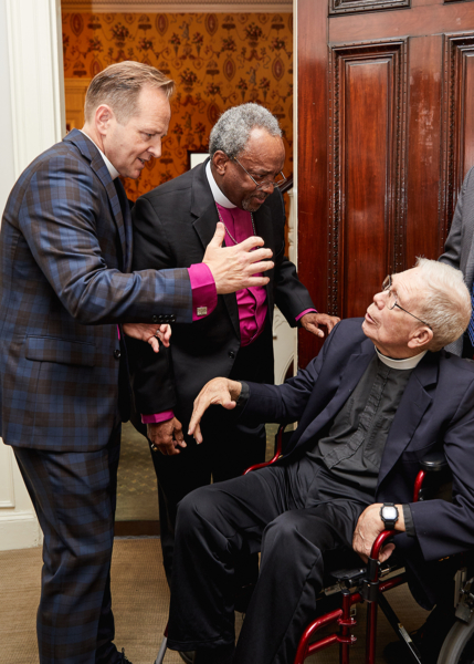 Bishop Brown, Presiding Bishop Curry, Rev. Nickerosn