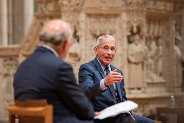 Fauci at National Cathedral
