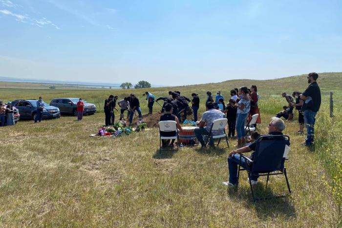 Standing rock funeral